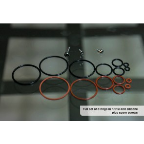 Full set of o'rings in nitrile and silicone plus spare screws