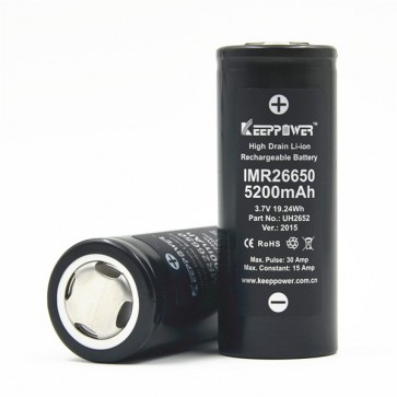 Keep Power IMR 26650 battery 5200mAh 30A