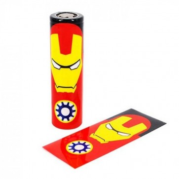 18650 Battery PVC Wrap Ironman