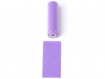 18650 Battery PVC Wrap Purple