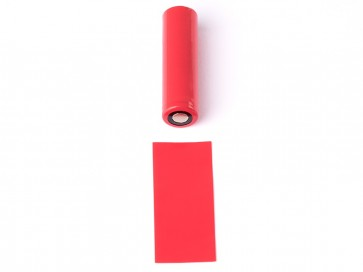 18650 Battery PVC Wrap Red
