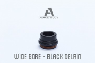 Armor 2.0 RDA DRIP TIP WIDE BORE BLACK DELRIN