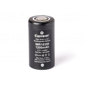 Keeppower IMR18350 - 1200mAh 10A (15A), 3,6V - 3,7V Li-Ion