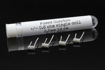 PC COILS #05 - 4 X FUSED CLAPTON 0.6 Ohm 2.5 mm