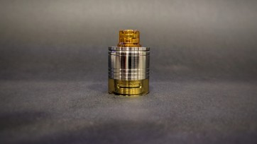 Skydrop with Drip Tip-Liquid controller Ultem polished & Half Metal Tank 3Strokes & Half Ultem Tank polished