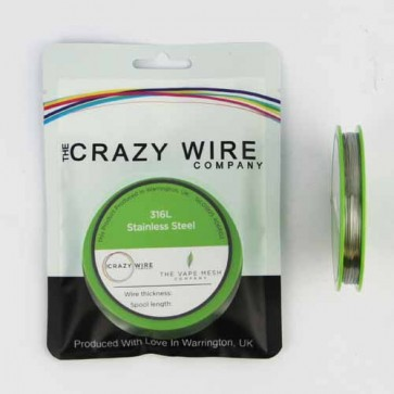 0.4mm (26 AWG) - SS316L (Marine Grade Stainless Steel Wire) - 5.97 ohms/m