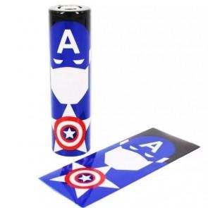 Θερμοσυστελλόμενο κάλυμμα PVC για μπαταρίες 18650 Captain America