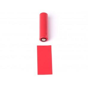 Θερμοσυστελλόμενο κάλυμμα PVC για μπαταρίες 18650 Κόκκινο
