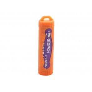 Θήκη σιλικόνης για μπαταριές 18650 Πορτοκάλι
