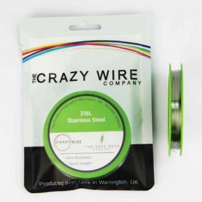0.35mm (27 AWG) - SS316L (Marine Grade Stainless Steel Wire) - 7.8 ohms/m