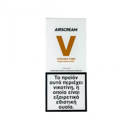 AirScream Pops Virginia Toba 4 x 1.2ml 09mg Salt