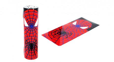 18650 Battery PVC Wrap Spiderman