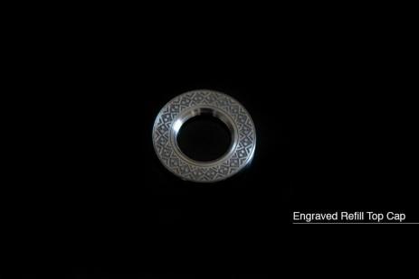 Engraved refill top cap for V1 / V2 / V3 /V4