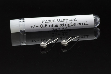 PC COILS #06- 2 X FUSED CLAPTON 0.5 Ohm 3 mm