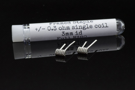 PC COILS#13 - 2 X FRAMED STAPLE 0.3 ohm 3mm