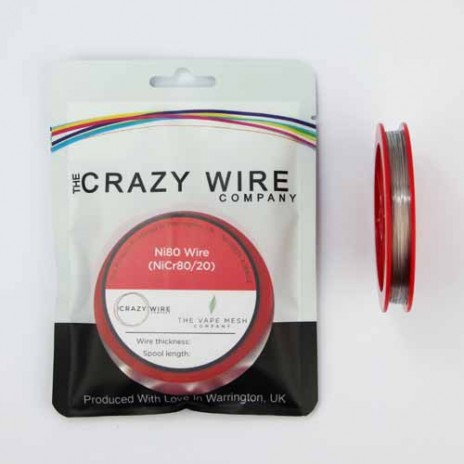 0.4mm (26 AWG) Ni80 (Nickel Chrome 80/20 (NiCr8020) Resistance Wire) - 8.71 ohms/m