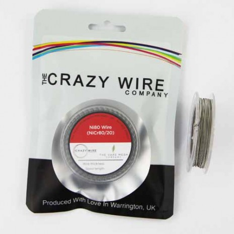 26 AWG Clapton Coil Wire Ni80 (26 AWG & 32 AWG) 5 Metre (15ft)