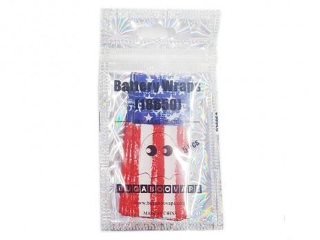 18650 Battery PVC Wrap USA Flag(5pcs)