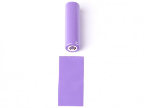 PVC Wärmeschrumpfschlauch ø18,12 x 70mm für 18650 Zellen Lila