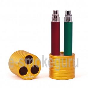 Vapeonly Three-port Cylinder E-Cigarette Stand Base/ Holder Gold