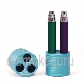 Vapeonly Three-port Cylinder E-Cigarette Stand Base/ Holder Blau