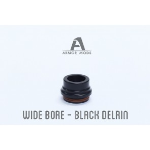 Armor 2.0 RDA DRIP TIP WIDE BORE BLACK DELRIN (Avaliable only in Store)